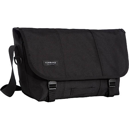 "Timbuk2 Classic Carrying Case (Messenger) Bottle, File, Pen, Cell Phone, Accessories - Jet Black - Water Proof Interior - Polyester Canvas - Handle, Shoulder Strap - 12.2"" Height x 18.1"" Width x 7.1"" Depth"