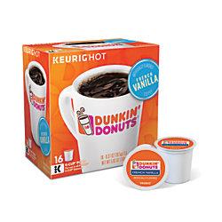 Dunkin' Donuts® French Vanilla Coffee Single-Serve K-Cup®, 0.4 Oz, Carton Of 16