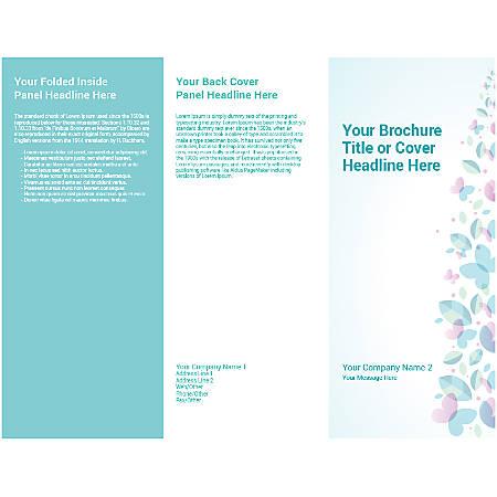 Customizable Trifold Brochure, Blue Butterflies
