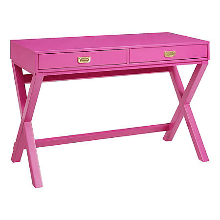 Linon Ari 4-Shelf Bookcase, Raspberry Pink
