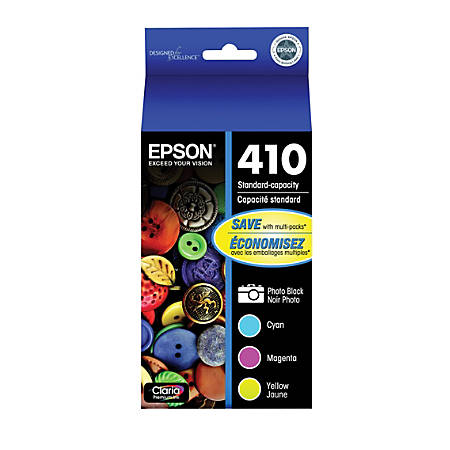 Epson® Claria® Premium Standard-Yield Black/Cyan/Magenta/Yellow Ink Cartridges (T410520-S)