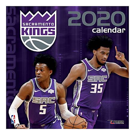 "Turner Licensing Monthly Wall Calendar, 12"" x 12"", Sacramento Kings, 2020"