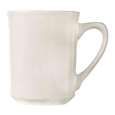 World Tableware Kona Porcelain Mugs, 8.5 Oz, White, Pack Of 36 Mugs