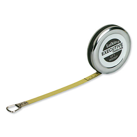 Executive® Diameter Pocket Measuring Tapes, 1/4 in x 6 ft, A19 Blade