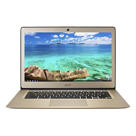 "Acer® Refurbished Chromebook, 14"" Screen, Intel® Celeron®, 4GB Memory, 32GB Flash, Chrome OS, NX.GJEAA.001"