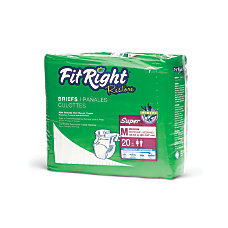 FitRight Restore Briefs Medium White 20