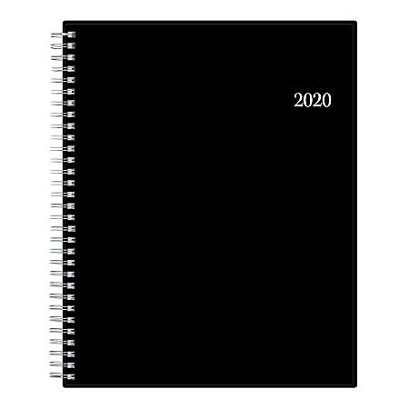 "Blue Sky™ Barcelona Monthly Planner, 8"" x 10"", Black/White, January To December 2020, 100004"