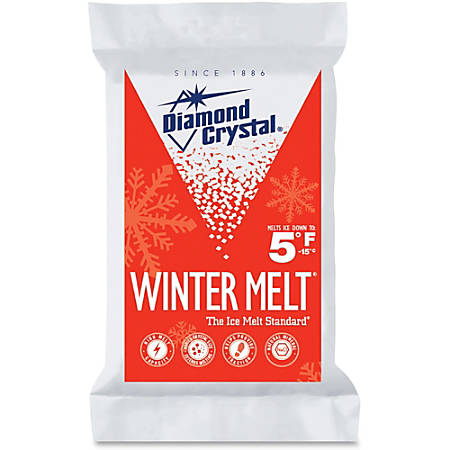 Diamond Crystal Garland Norris Winter Melt - Crystal - Sodium Chloride - 5°F (-15°C) - 25 lb
