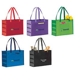 Chevron Non Woven Shopper Tote Bag