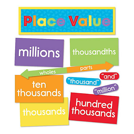 Carson-Dellosa Understanding Place Value Mini Bulletin Board Set