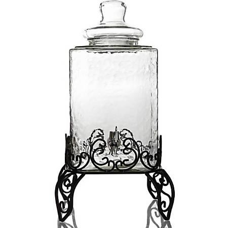 Gibson Home Moreauville 2.25 Gl Beverage Dispenser, Set - 2.25 gal - Glass, Metal