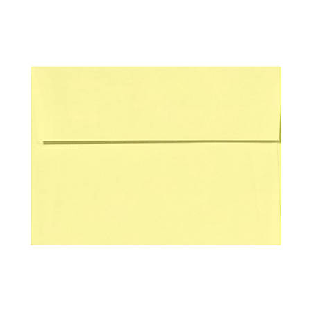 """LUX Invitation Envelopes With Peel & Press Closure, A9, 5 3/4"""" x 8 3/4"""", Lemonade Yellow, Pack Of 50"""