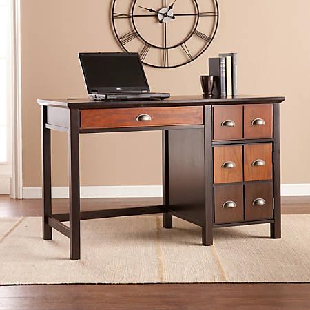Southern Enterprises Hendrik Apothecary Desk, Espresso/Wood Tones