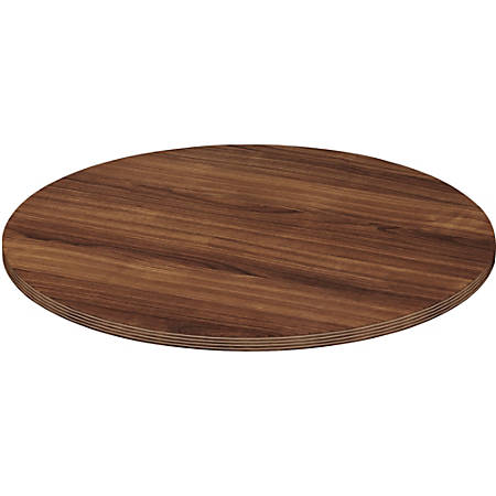 Lorell® Chateau Series Round Conference Table Top, 4'W, Walnut