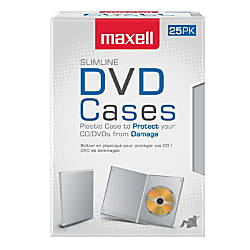 Maxell DVD Video Cases Slim Clear