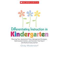 Scholastic Differentiating Instruction In Kindergarten