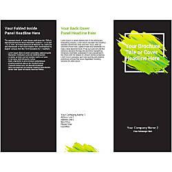 Customizable Trifold Brochure BlackGreen Frame