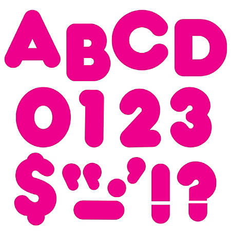 "TREND Ready Letters®, Casual, 4"", Deep Pink, Pre-K - Grade 12, Pack Of 71"