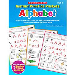 Scholastic Instant Practice Packets Alphabet