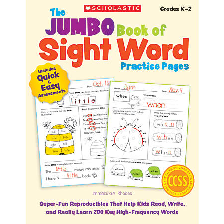 Scholastic The Jumbo Book Of Sight Word Practice Pages