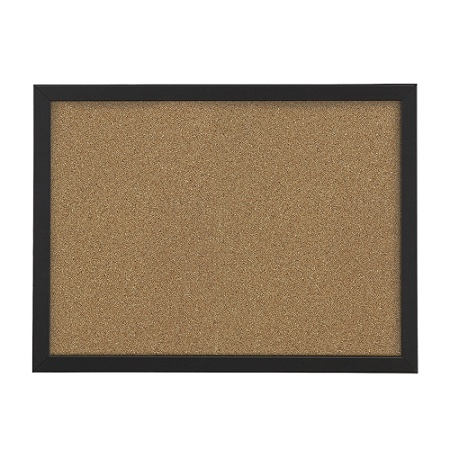 Foray Cork Board 24 X 36 Natural Black D Cor Frame By Office Depot Officemax