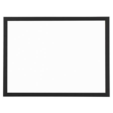 "FORAY® Magnetic Dry-Erase Decor Board, 18"" x 24"", White, Black Frame"