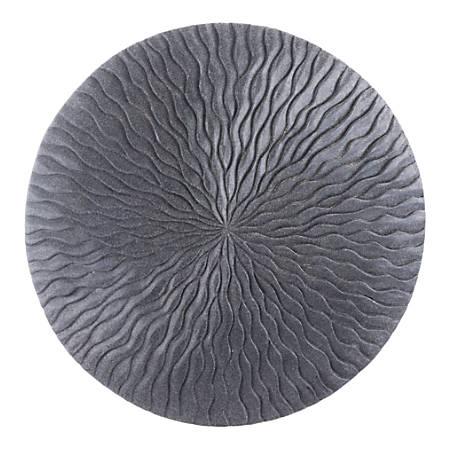 Zuo Modern Round Wave Plaque, Large, Dark Gray