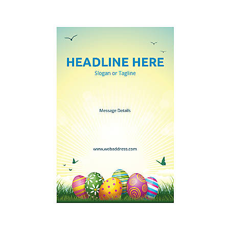 Adhesive Sign, Vertical, Easter Eggs