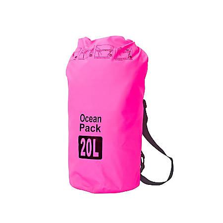 Zodaca 20000 ML Waterproof Outdoor Adventure Dry Bag, Pink