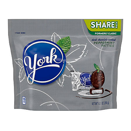 York Dark Chocolate Peppermint Patties, 10.1-Oz Bag