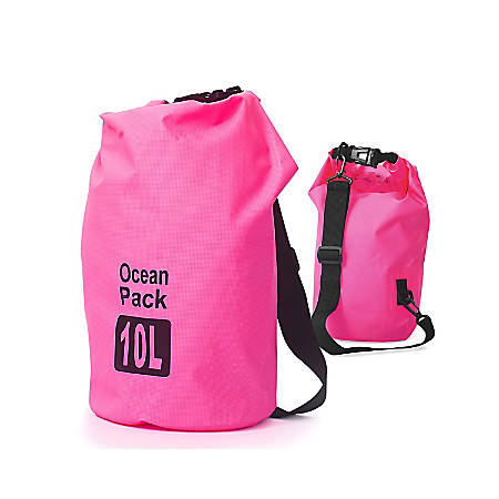 Zodaca 10000 ML Waterproof Outdoor Adventure Dry Bag, Pink