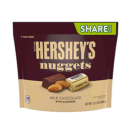 Hershey's® Nuggets Milk Chocolate With Almonds Candy, 10,1 Oz, Pack Of 3 Bags