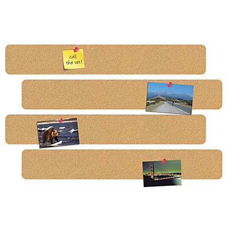 "FORAY™ 10"" Cork Bulletin Bars, Pack Of 4"