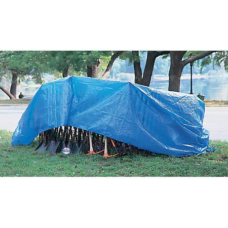 Multiple Use Tarps, 24 ft Long, 18 ft Wide, Polyethylene, Blue