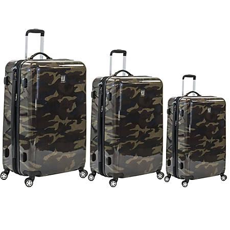ful Ridgeline Aluminum Rolling 3-Piece Luggage Set, Camouflage