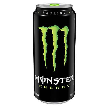 Monster Energy Drinks, Original, 16 Oz, Pack Of 4