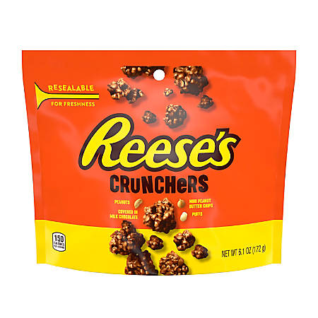 Hershey's Reese's Crunchers Snacks, 6.1 Oz, Pack of 3 Bags