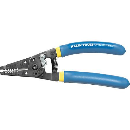 "Klein Tools Klein-Kurve 11055 Multipurpose Cutter/Stripper - 7.1"" Length - Blue, Yellow - 5.44 oz - Comfortable Grip"