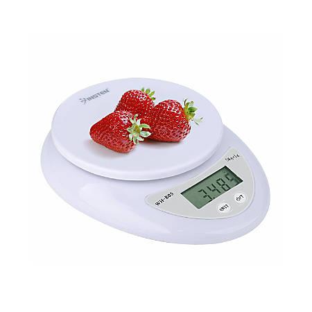Insten Digital Kitchen Scale, 0.04 - 176.37 Oz, White