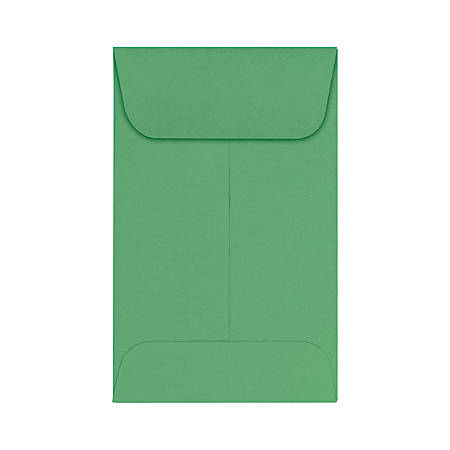 "LUX Coin Envelopes, #1, 2 1/4"" x 3 1/2"", Holiday Green, Pack Of 50"