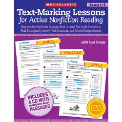 Scholastic Text Marking Lessons For Active