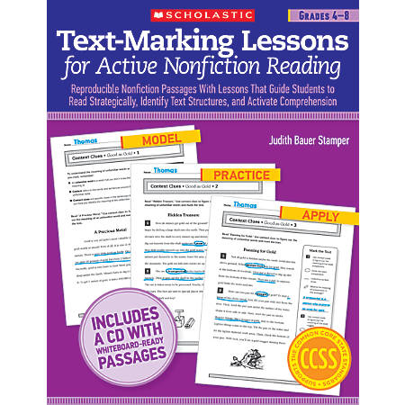 Scholastic Text-Marking Lessons For Active Nonfiction Reading For Grades 4–8