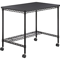 Safco Mobile Wire Desk Melamine Black