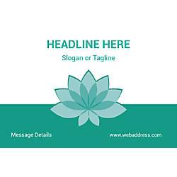 Horizontal Banner Teal Spa Flower