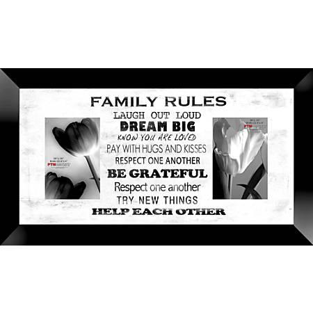 "PTM Images Photo Frame, Family Rules, 22""H x 1 1/4""W x 12""D, White"