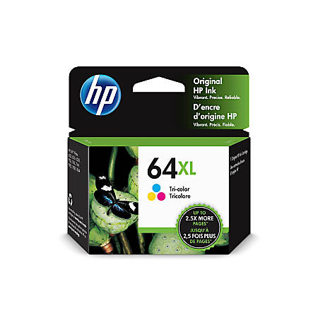 HP 64XL Tri-Color High Yield Original Ink Cartridge (N9J91AN)