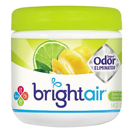 BRIGHT Air® Super Odor™ Eliminator Gel, Zesty Lemon Lime, 14 Oz
