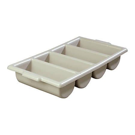 """Carlisle Save-All Silverware Trays, 3 3/4""""H x 21 1/4""""W x 11 1/2""""D, Gray, Pack Of 6"""