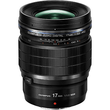 "Olympus M.ZUIKO DIGITAL - 17 mm - f/1.2 - Fixed Lens for Micro Four Thirds - Designed for Camera - 62 mm Attachment - 0.15x Magnification - 3.4""Length - 2.7""Diameter"