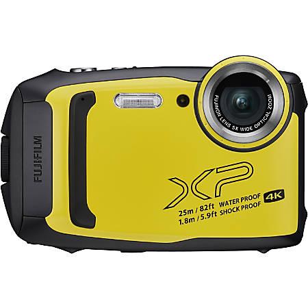 "Fujifilm FinePix XP140 16.4 Megapixel Compact Camera - Yellow - 3"" LCD - 5x Optical Zoom - 2x Digital Zoom - Optical (IS) - 4608 x 3456 Image - 3840 x 2160 Video - HD Movie Mode - Wireless LAN"
